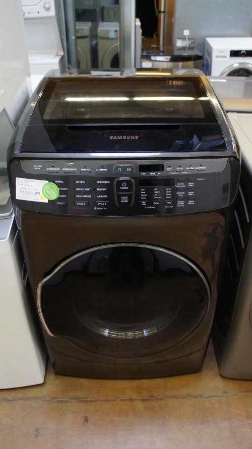 "27"" Samsung FlexWash DVG55M9600V Gas Smart Dryer"