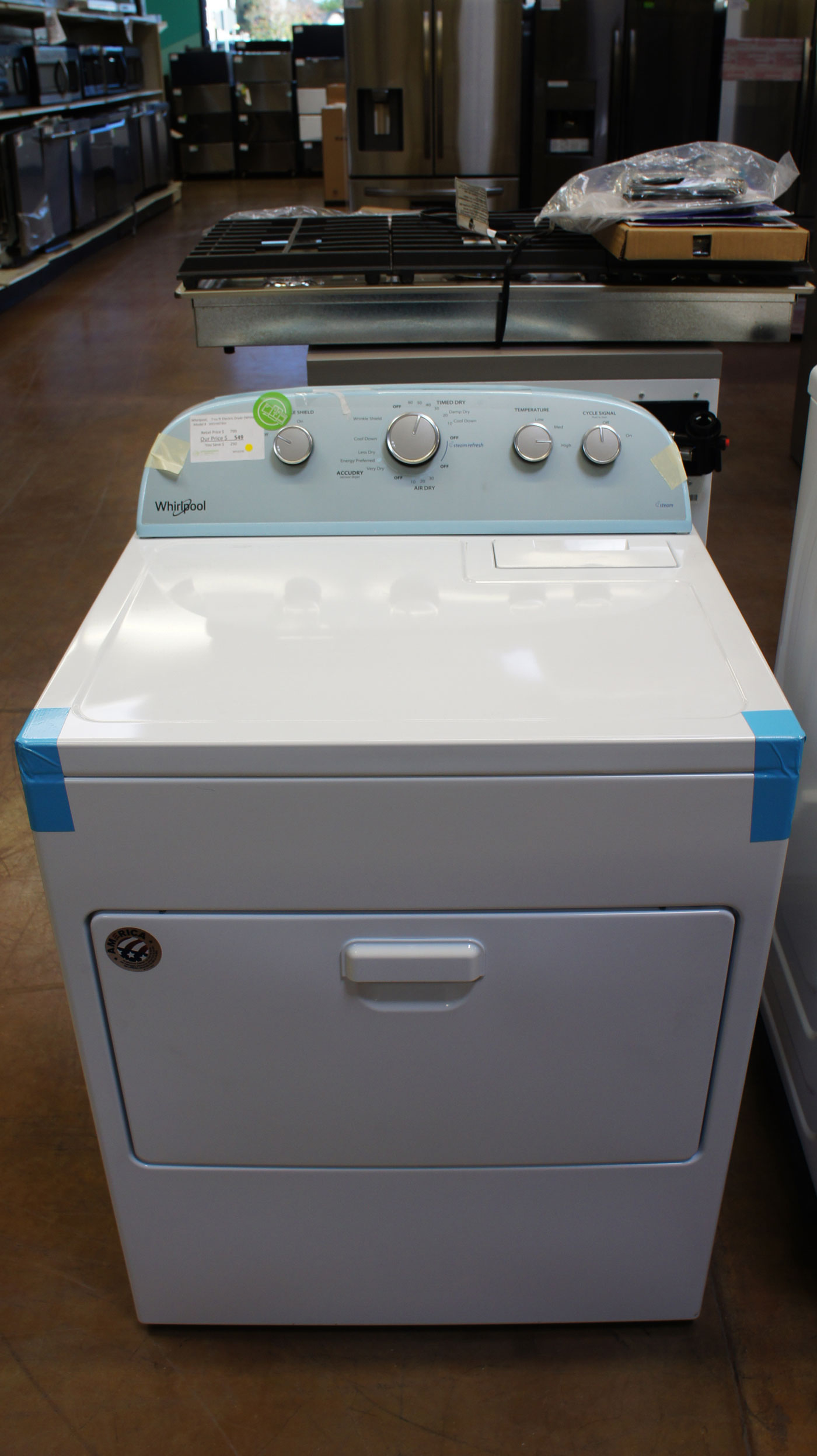 "30"" Whirlpool WED49STBW Electric Dryer"