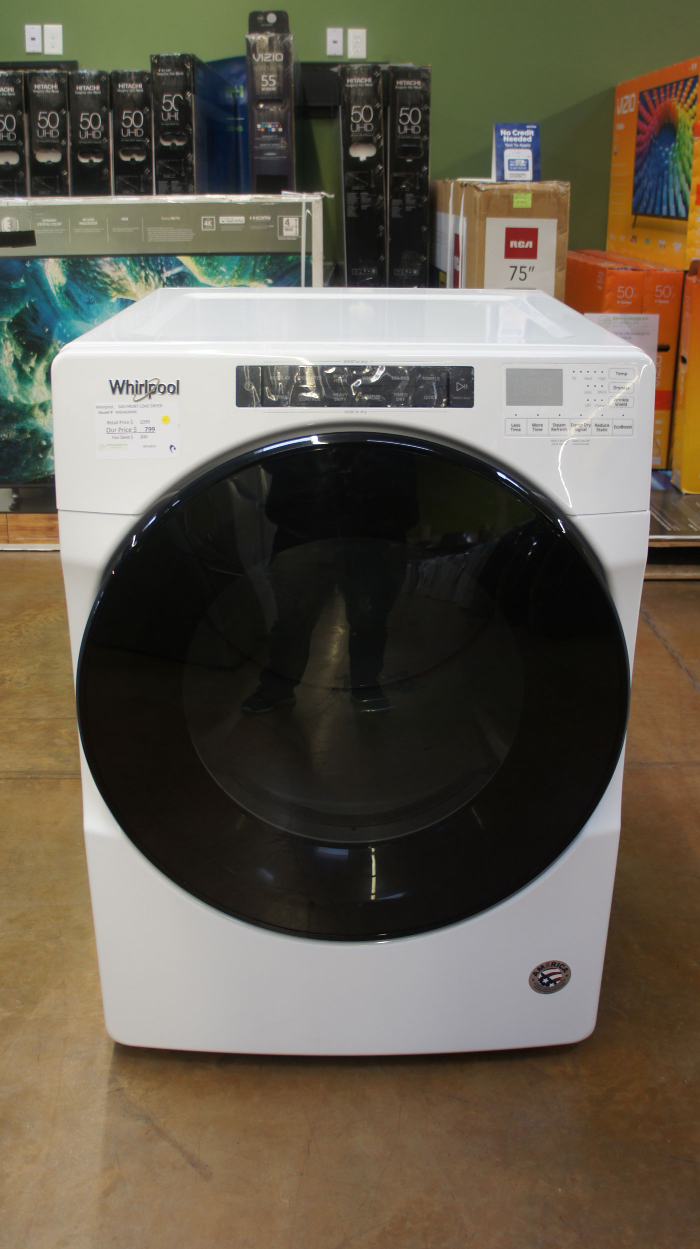 "27"" Whirlpool WGD6620HW 7.4 cu.ft. Gas Dryer"
