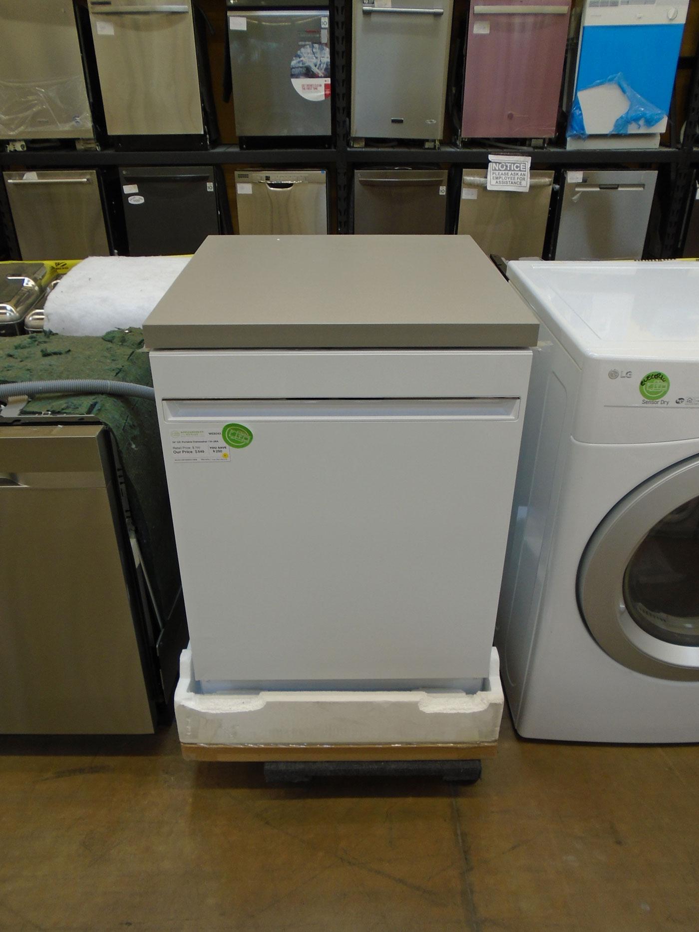 "24"" GE GPT225SGLWW Portable Dishwasher"