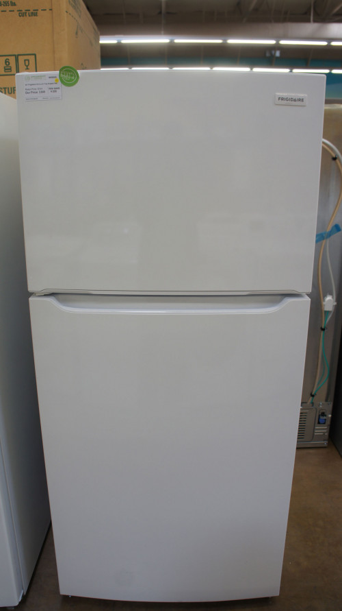"30"" Frigidaire FFTR1835VW Top Freezer Refrigerator"