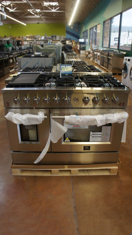 "48"" Forno FFSGS6291-48 Stainless Steel Gas Range"