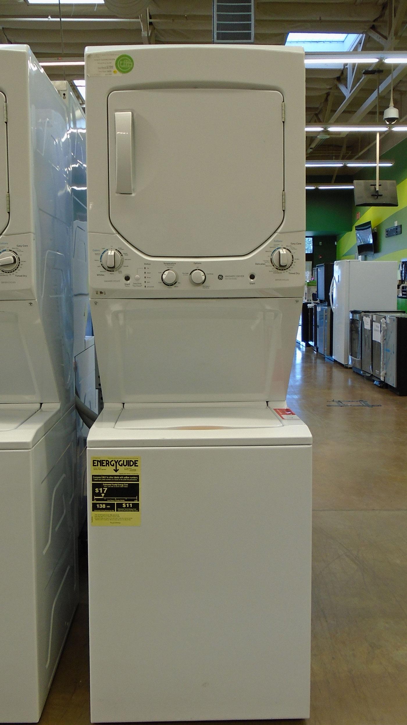 GE Spacemaker GUD24ESSMWW Laundry Center