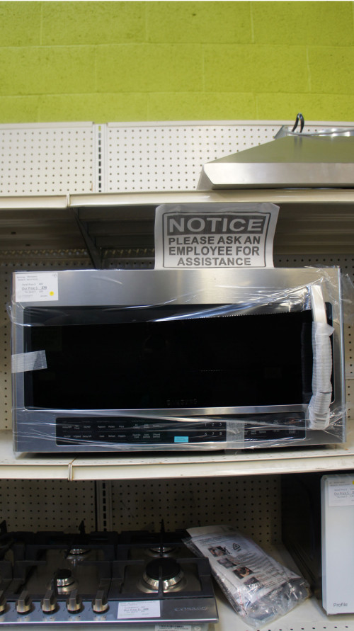 """30"""" Samsung ME21R7051SS 2.1 cu.ft. Over-The-Range Microwave"""