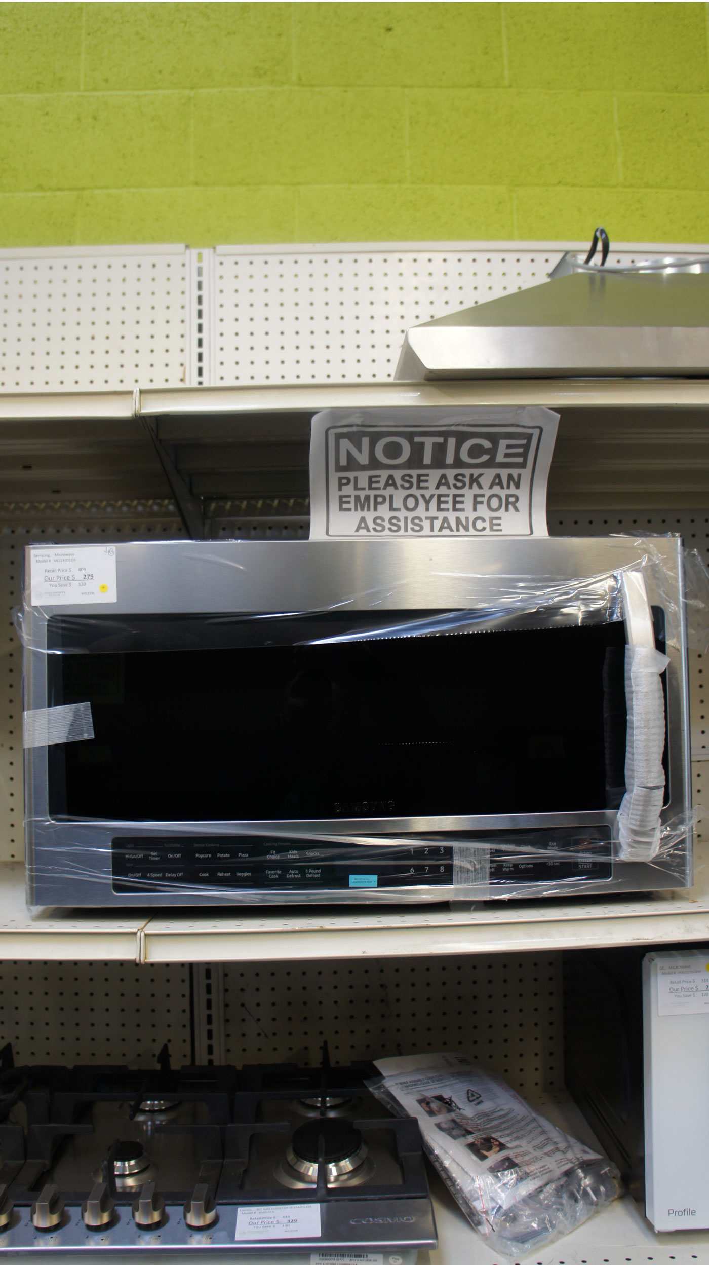 "30"" Samsung ME21R7051SS 2.1 cu.ft. Over-The-Range Microwave"