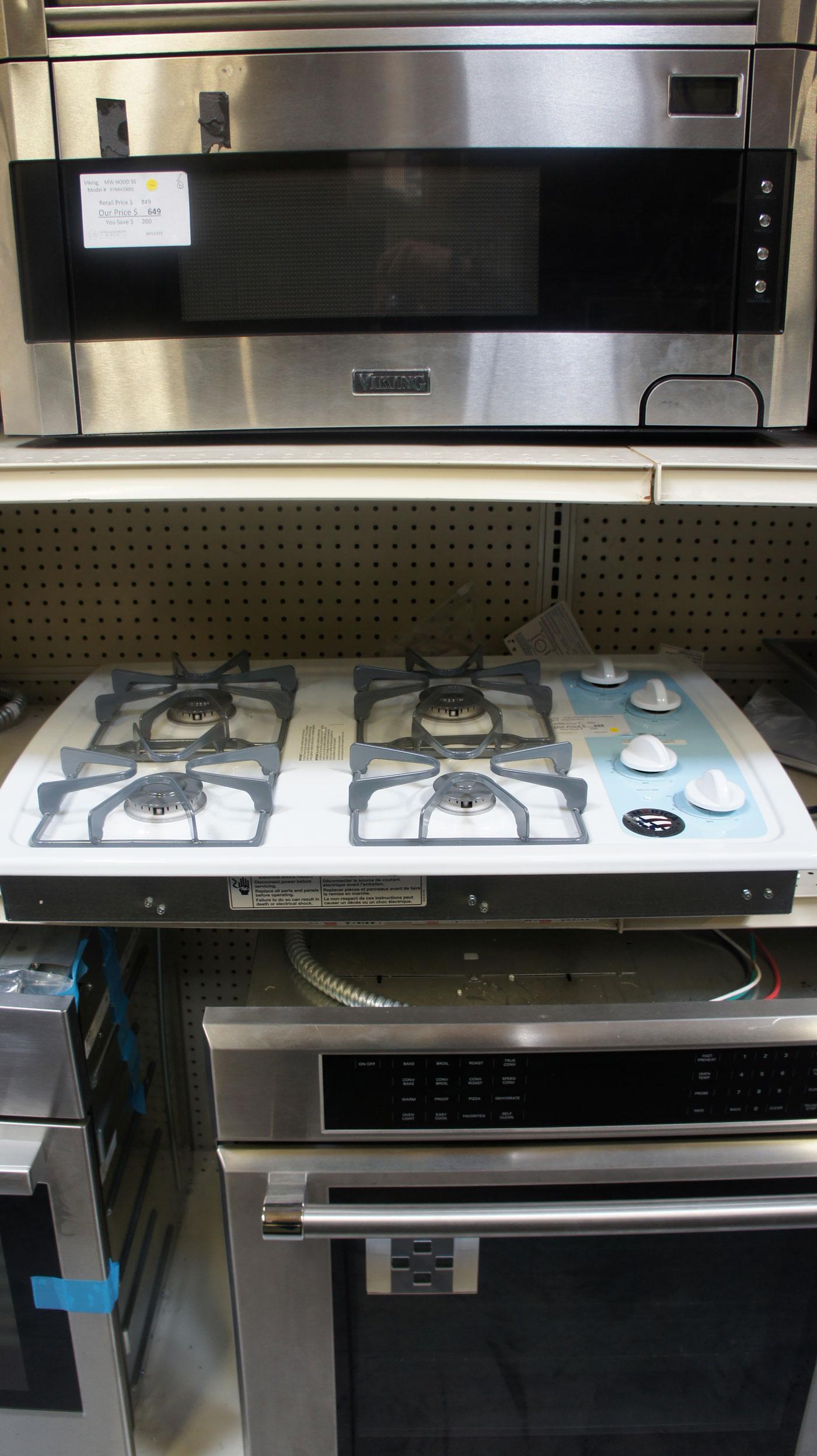 "30"" Whirlpool W3CG3014XW 4 Sealed Burners Gas Cooktop"