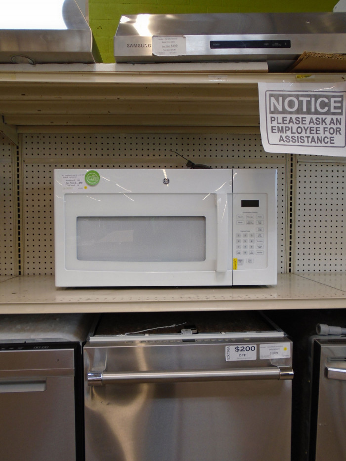 """30"""" GE JVM3160DFWW Microwave Oven"""