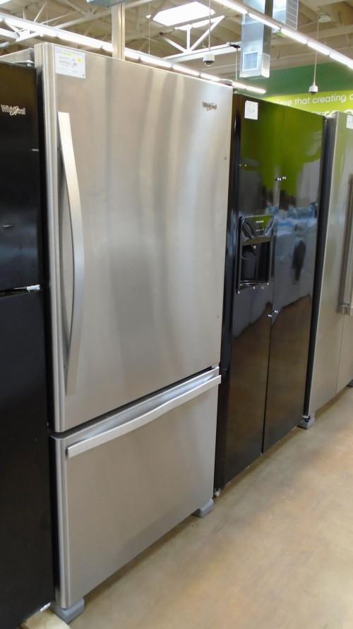"33"" Whirlpool WRB322DMBM Bottom Freezer Refrigerator"