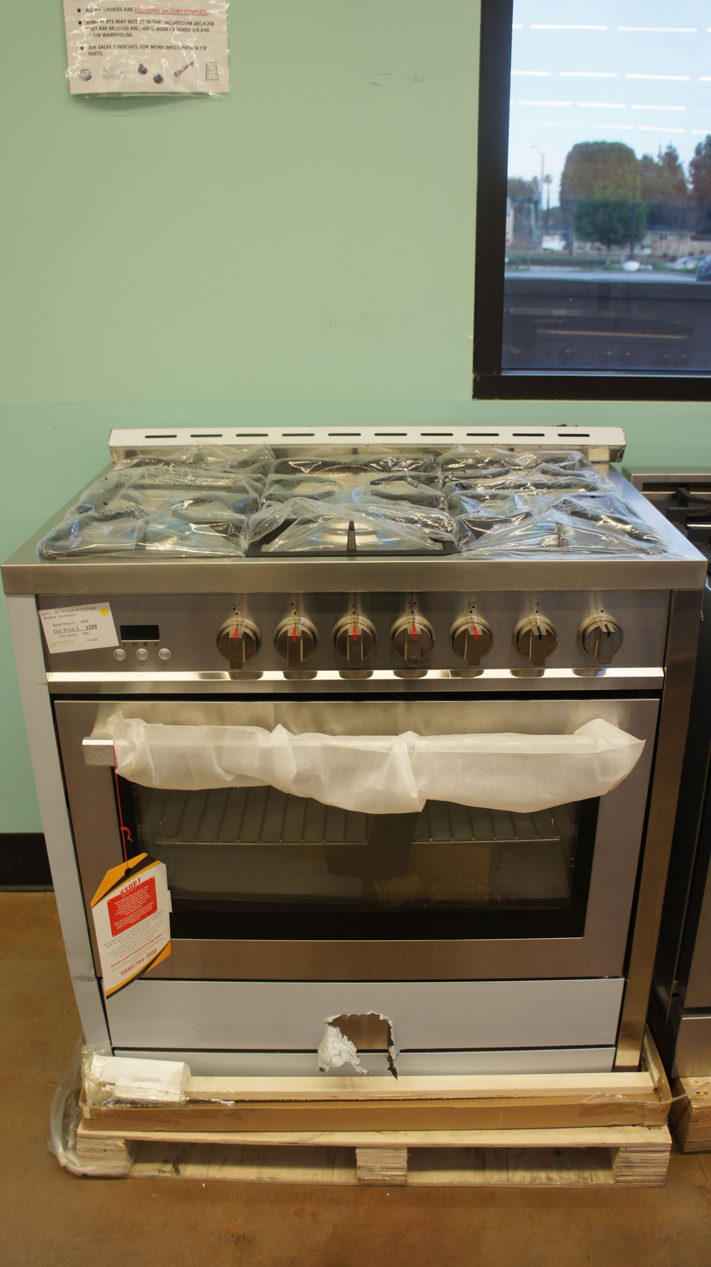 "36"" Cosmo COS965AGFC Freestanding Gas Range"