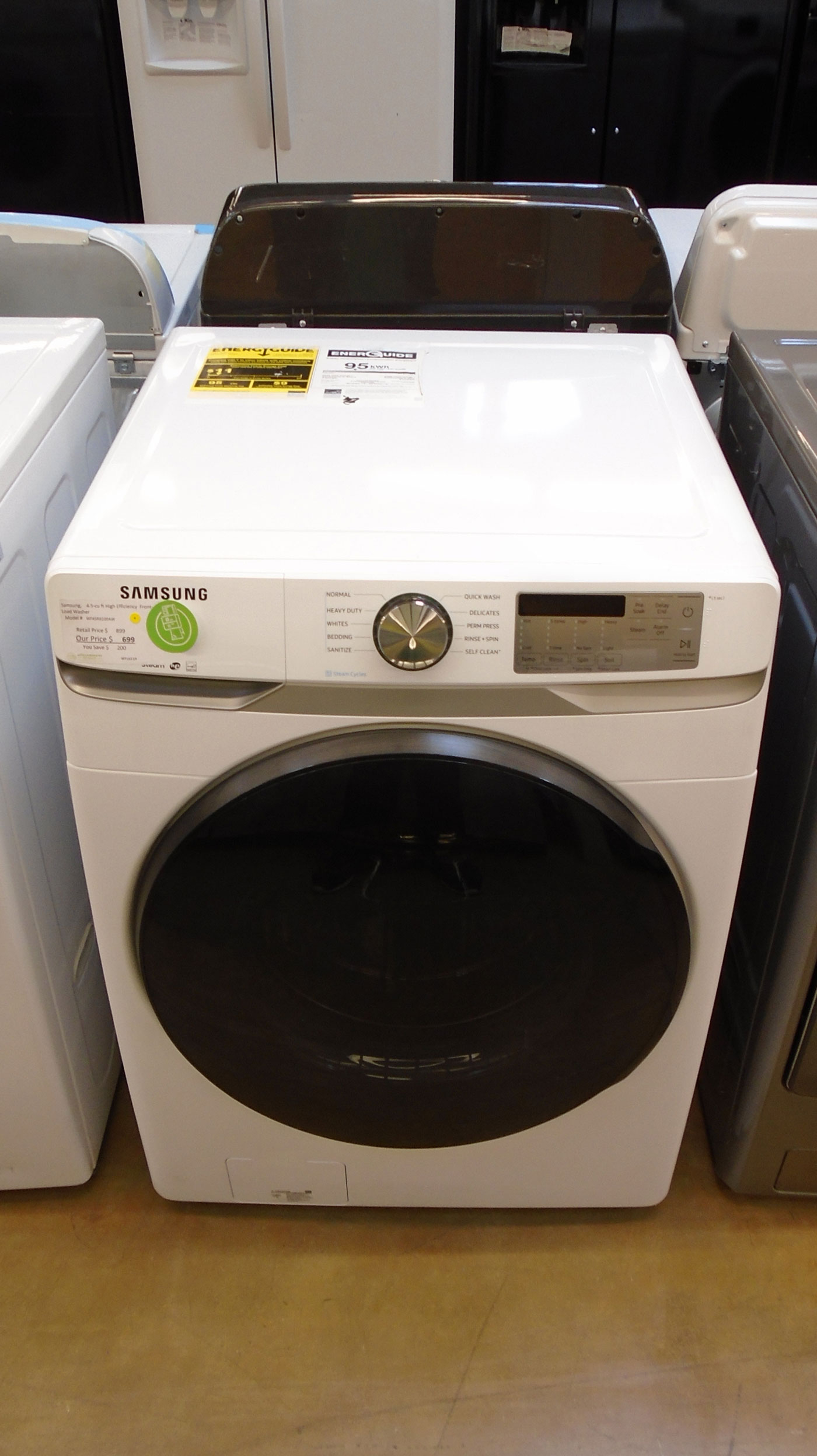 "27"" Samsung WF45R6100AW Front Load Washer"