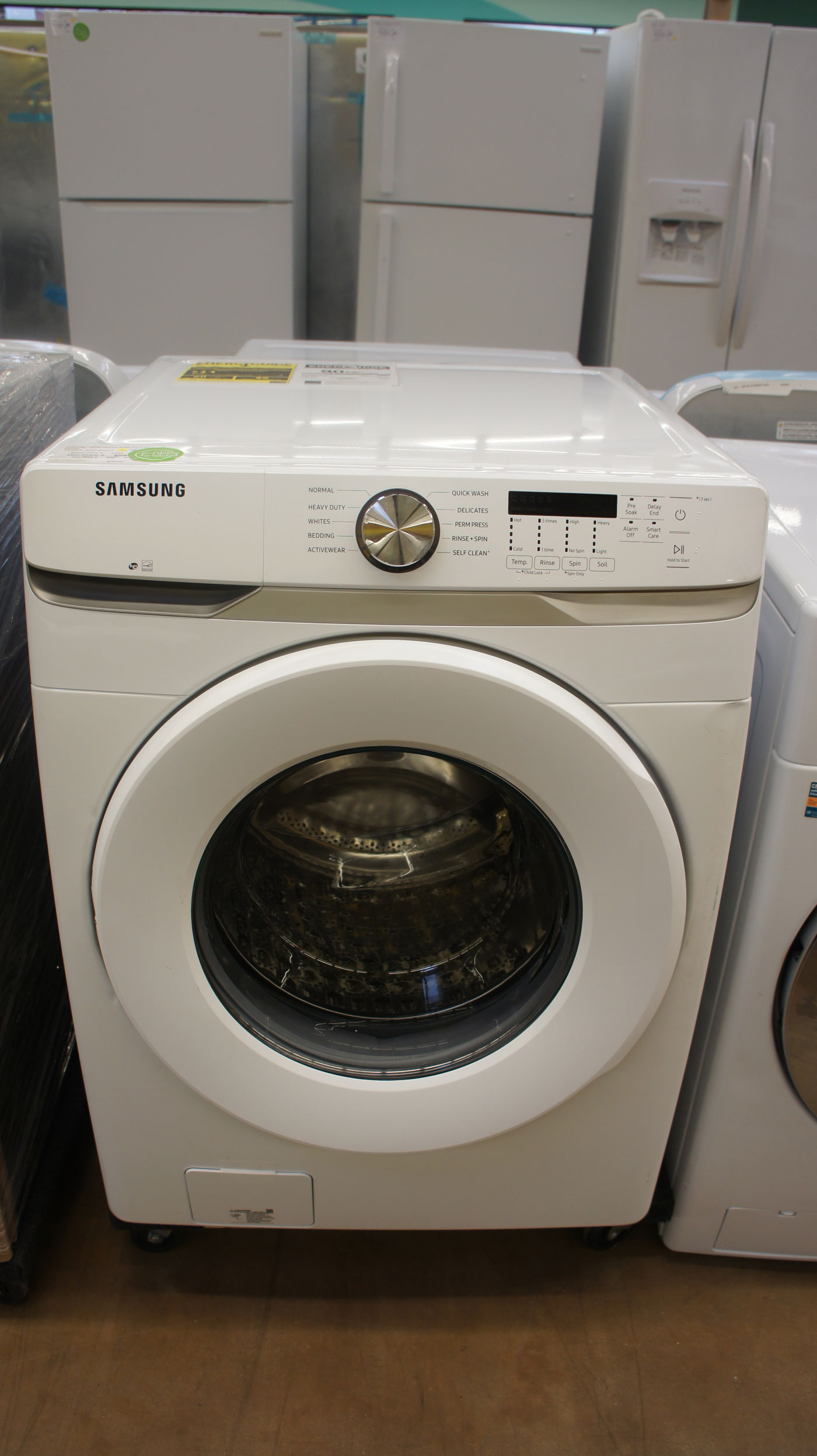 "27"" Samsung WF45T6000AW Front Load Washer"