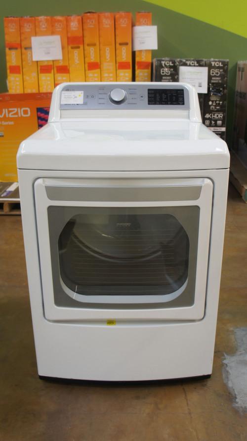 "27"" LG DLG7301WE 7.3 cu.ft. Smart Gas Dryer"