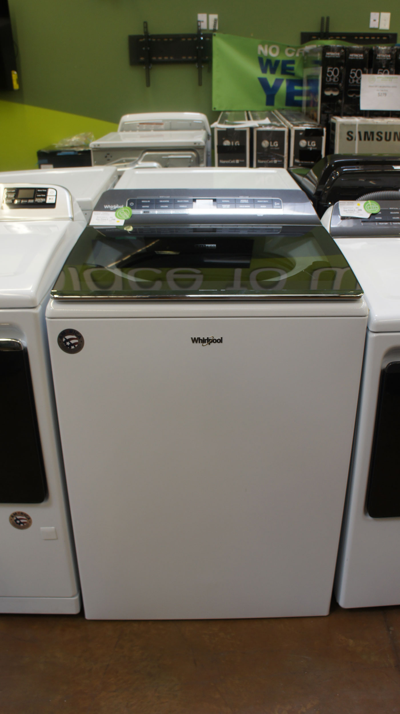 "27"" Whirlpool WTW7120HW 5.3 cu.ft. Smart Washer"