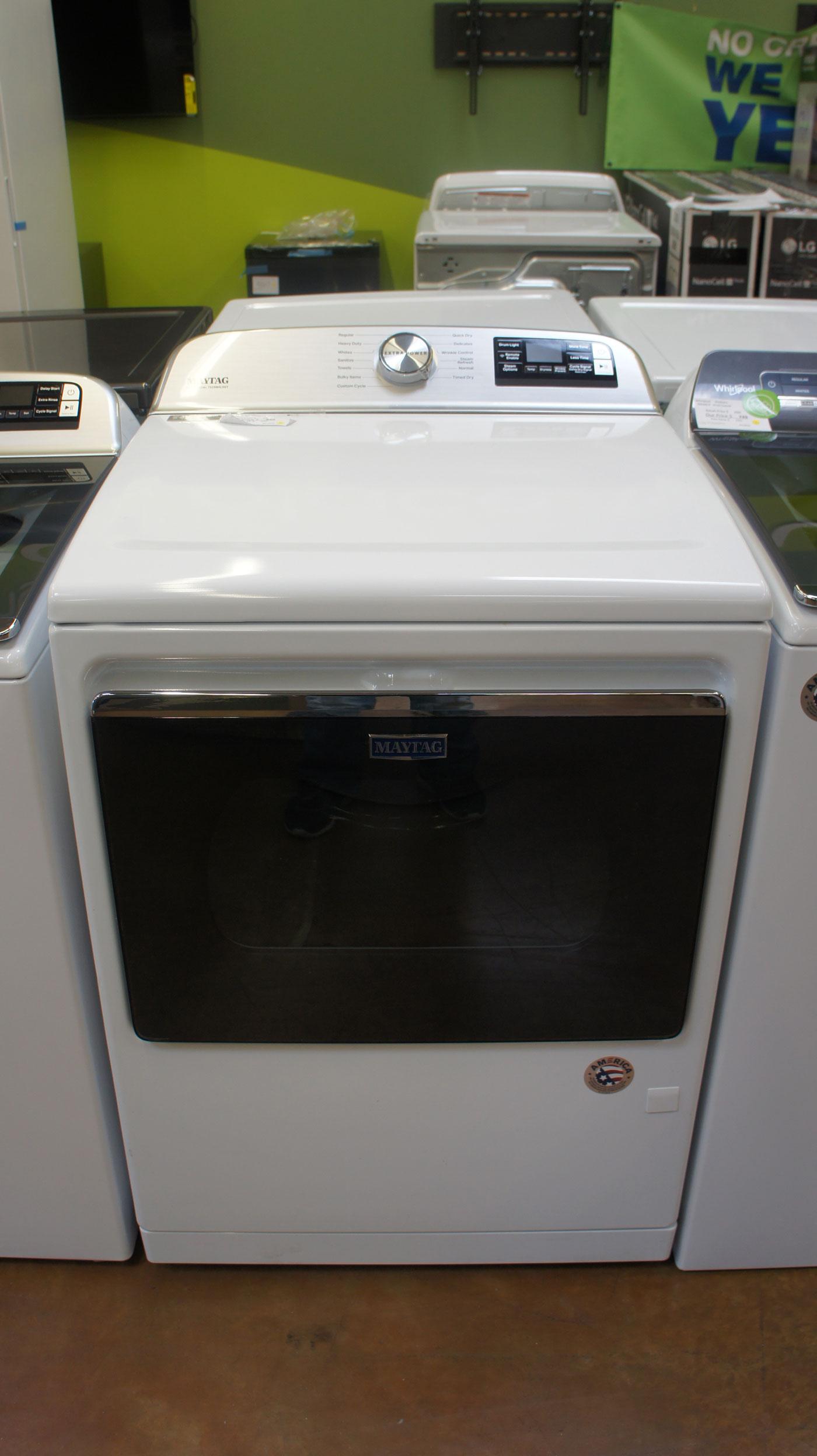 """27"""" Maytag MGD7230HW 7.4 cu.ft. Gas Smart Dryer"""