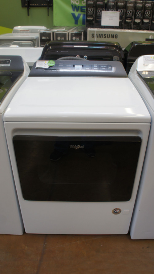 """27"""" Whirlpool WGD5100HW 7.4 cu.ft. Front Load Gas Dryer"""