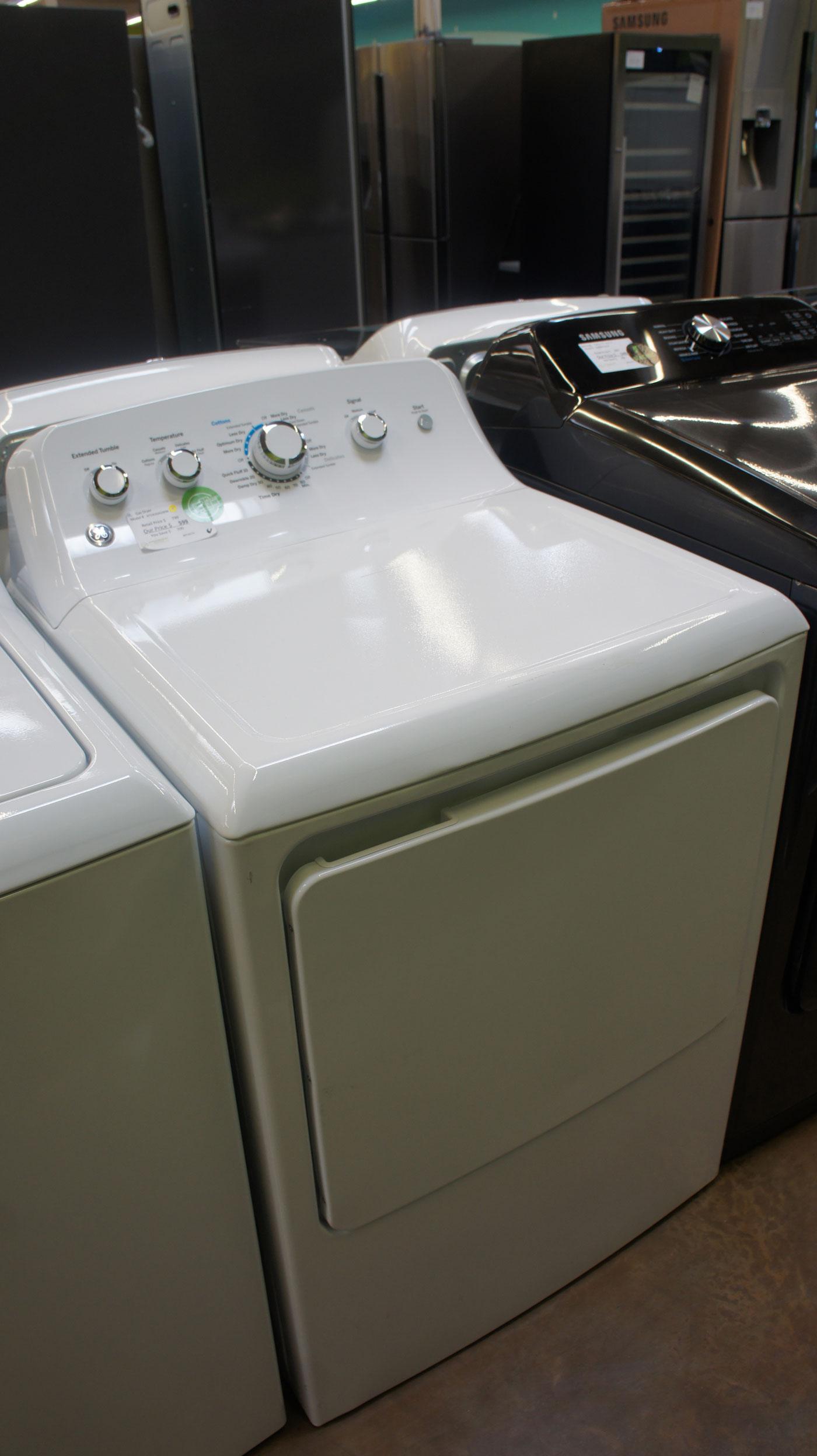 "27"" GE GTD42GASJWW 7.2 cu.ft. Front Load Gas Dryer"