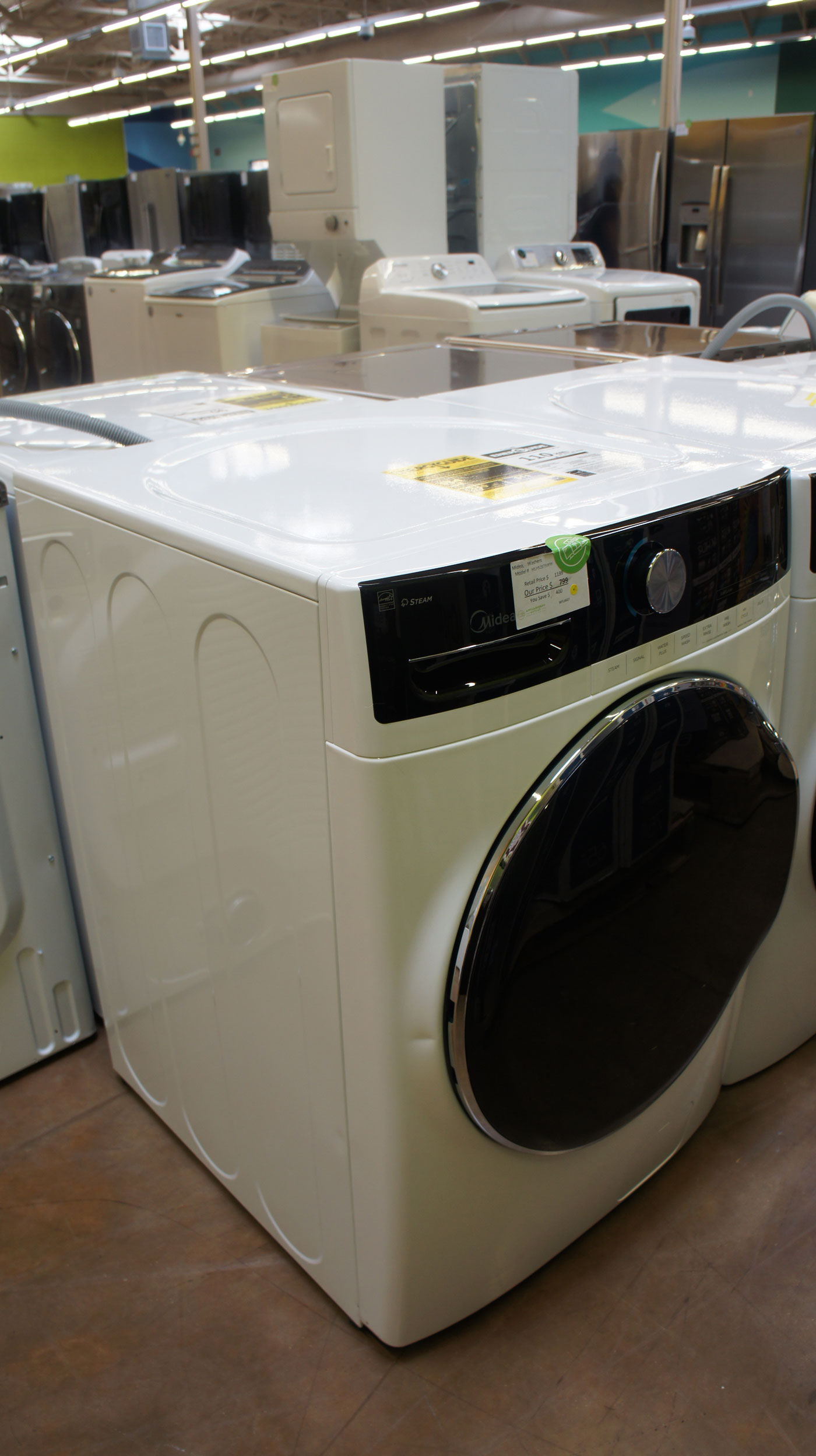 """27"""" Midea MLH52S7AWW 5.2 cu.ft. Front Load Washer"""