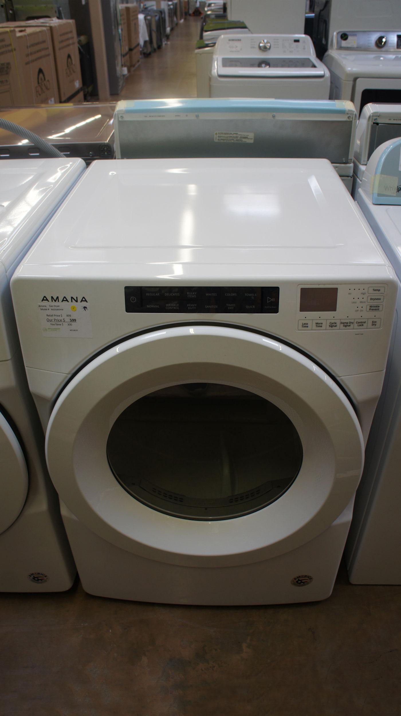 "27"" Amana NGD5800HW 7.4 cu.ft. Capacity Front Load Dryer"