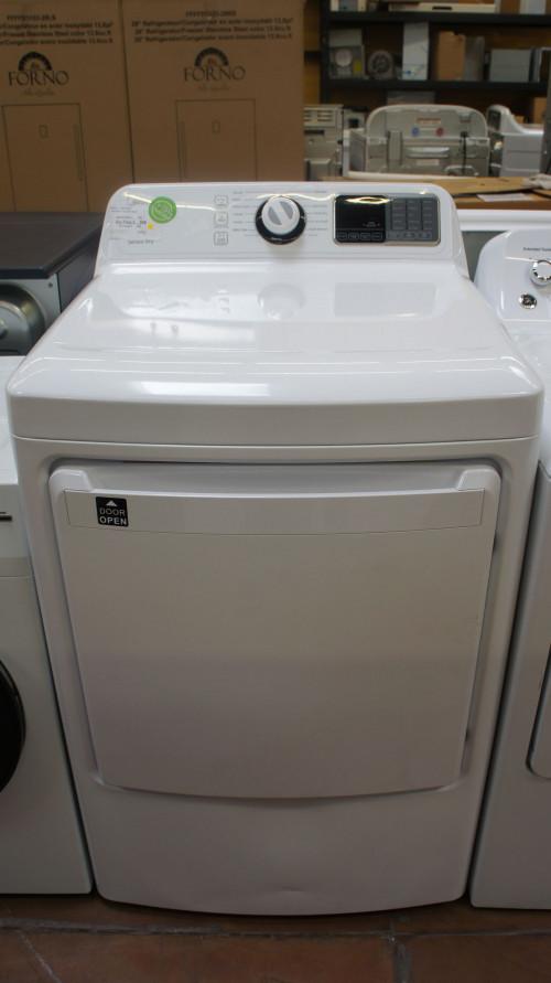 "27"" Midea MLG45N1BWW 7.5 cu.ft. Front Load Gas Dryer"
