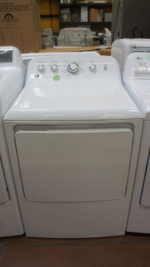 "27"" GE GTD42GASJWW 7.2 cu.ft. Front Load Gas Dryer"