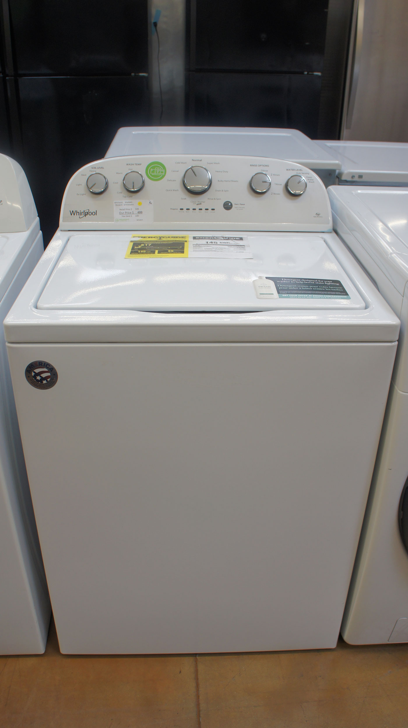 """28"""" Whirlpool WTW4816FW T3.5 cu.ft. Top Load Washer"""