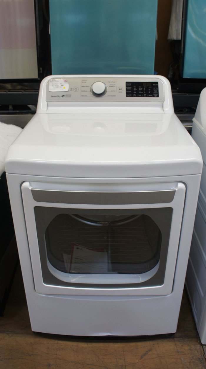"""27"""" LG DLG7301WE 7.3 cu.ft. Front Load Smart Gas Dryer"""