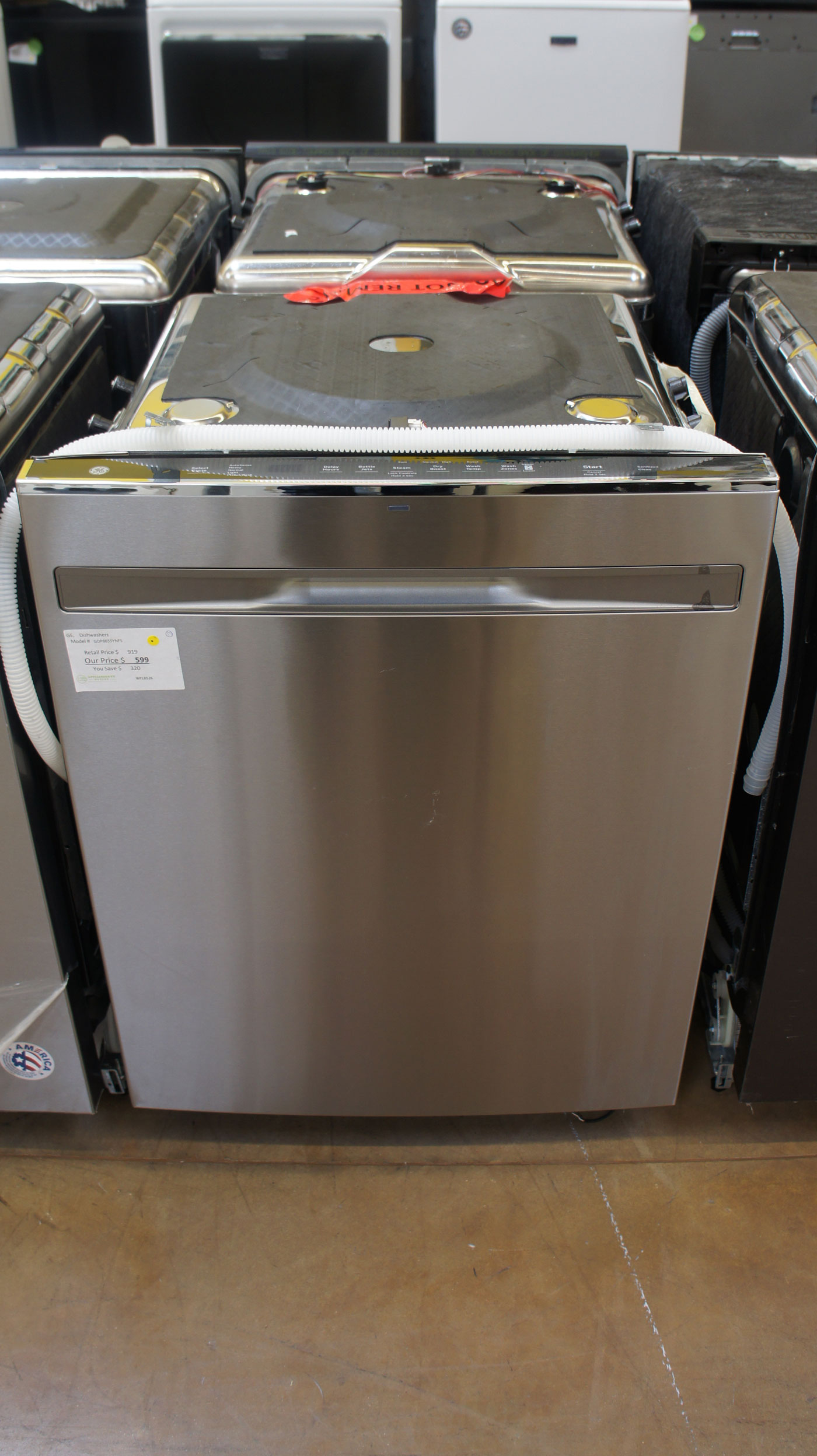 """24"""" GE GDP665SYNFS 46dBA Fully Integrated Dishwasher"""