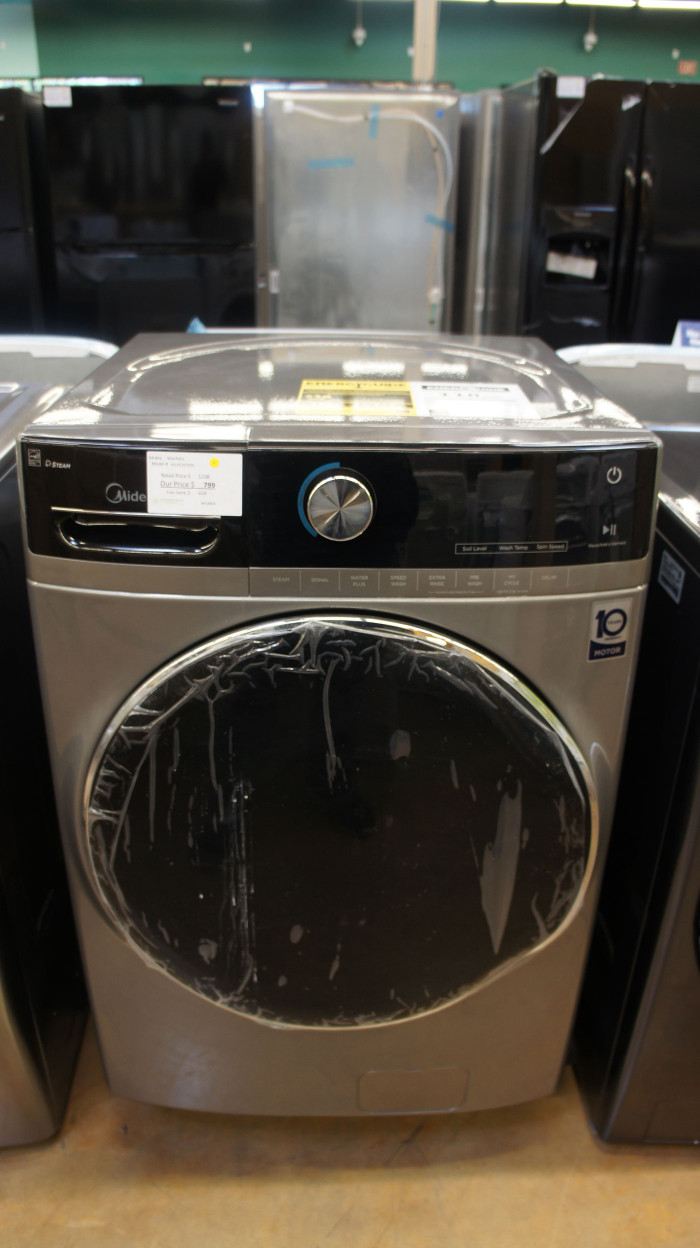 "27"" Midea MLH52S7AGS 5.2 cu.ft. Front Load Electric Washer"