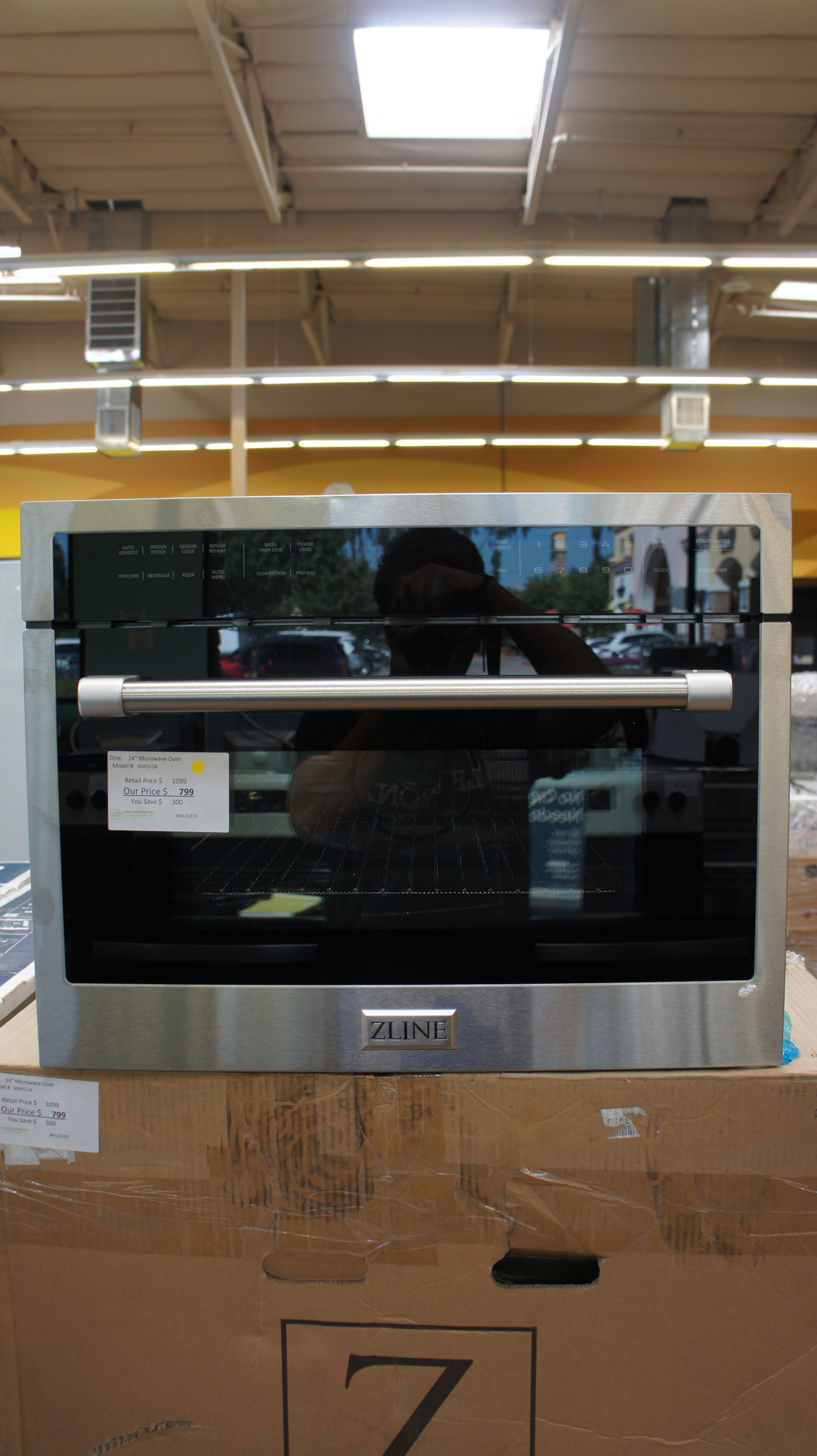 """24"""" ZLine MWO24 1.6 Cu.Ft. Built-In Convection Microwave Oven"""