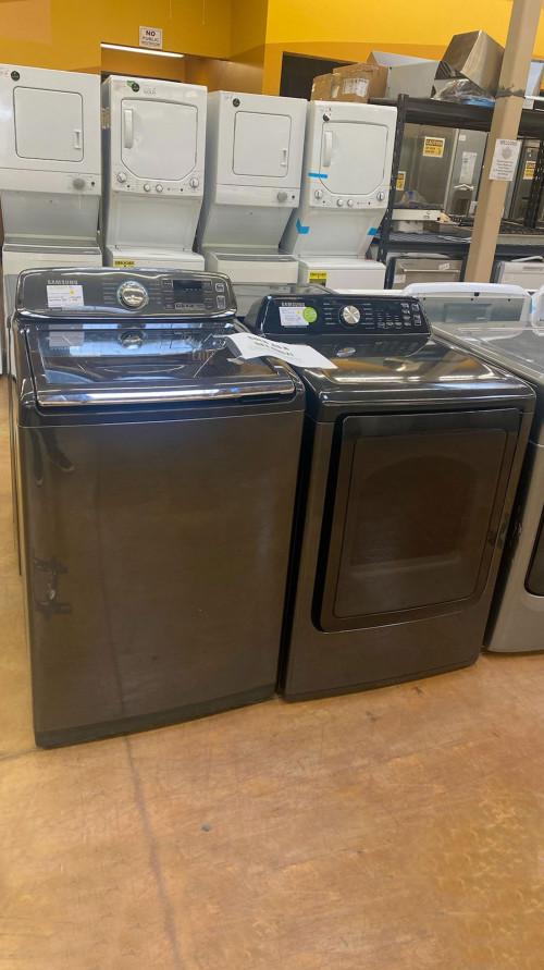 Samsung WA52M7750AV DVG45T34500V Washer & Gas Dryer