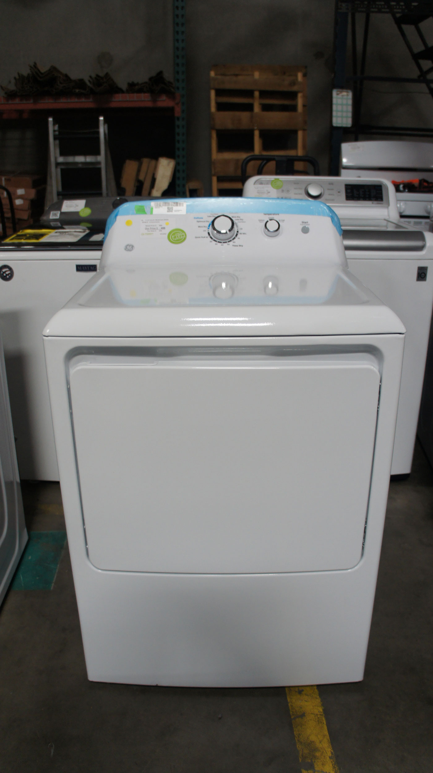 GE GTD33GASKWW Gas Dryer