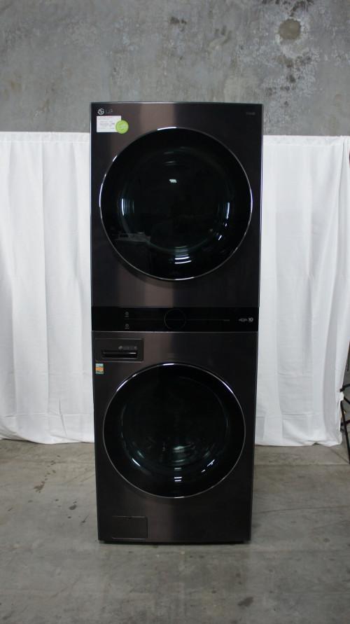 LG WKGX201HBA Smart Gas Single Unit WashTower